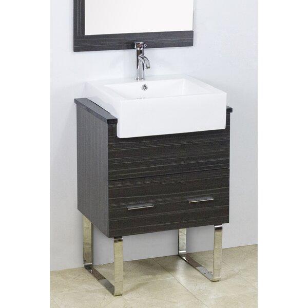 Mulberry Floor Mount 48 Single Bathroom Rectangular Plywood Vanity Set by Royal Purple Bath Kitchen