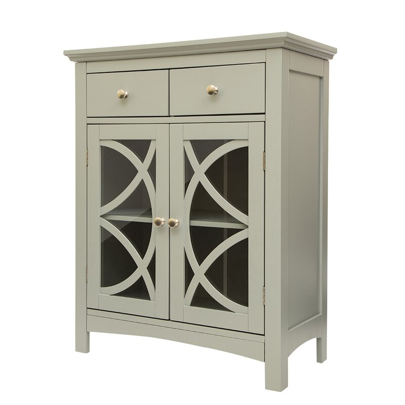 Wayfair Free Standing Kitchen Cabinets: Glitzhome Wooden Free Standing 2 Drawer Accent Cabinet