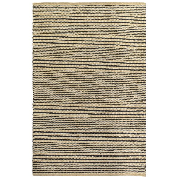 Delmer Congaree Hand-Woven Black Area Rug by Highland Dunes
