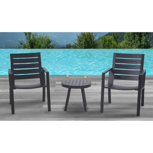 Moralez 3 Piece Bistro Set by Williston Forge