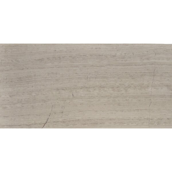 Cerro Hudson 12 x 24 Marble Wood Look/Field Tile in Gray by The Bella Collection