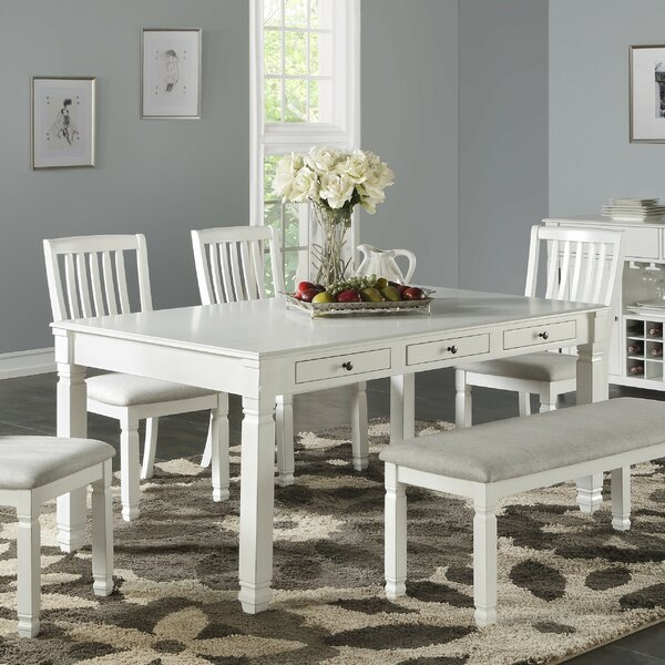Breault Wooden Dining Table by Canora Grey Canora Grey