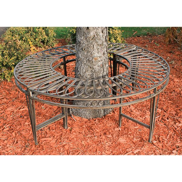 Gothic Roundabout Steel Garden Bench by Design Toscano