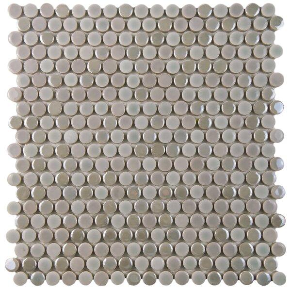 Tucana 0.59 x 0.59 Porcelain Mosaic Tile in Ash by EliteTile