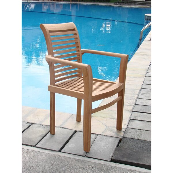 Mas Stacking Teak Patio Dining Chair (Set of 6) by Teak Smith