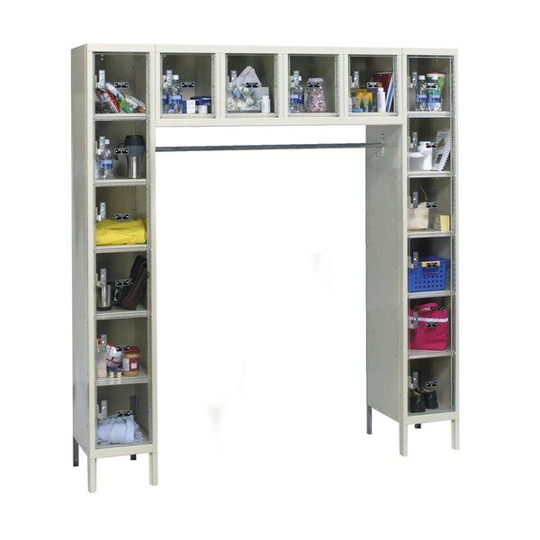Safety-View 6 Tier 6 Wide Safety Lockers by Hallowell