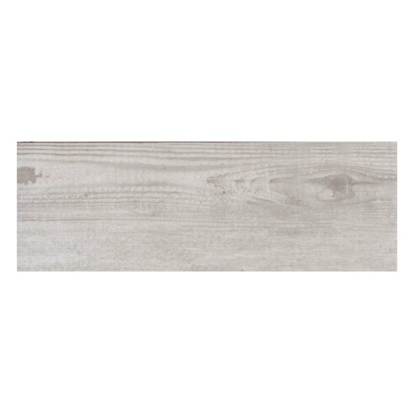 Bayur Ceniza 6.8 x 19.5 Ceramic Wood Look Tile in Ash by Casa Classica