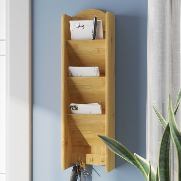 3 Tier Letter Rack with Key Hook by Rebrilliant