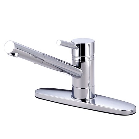 South Beach Single Handle Pull-Out Kitchen Faucet by Elements of Design