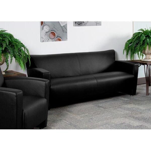 Gaige Leather Sofa by Ebern Designs