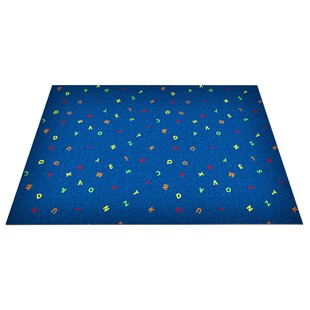 Compare & Buy Blue Scattered Letters Area Rug By Kid Carpet