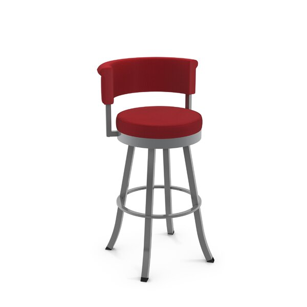 Lillian 31 Swivel Bar Stool by Ebern Designs