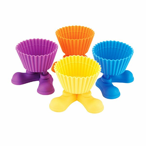 Silicone Cupcake Individual Holders (Set of 4) by Imperial Home