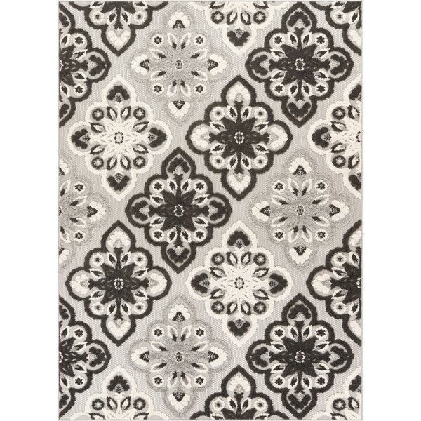 Dorado Devotion Modern Panel High-Low Gray Indoor/Outdoor Area Rug by Well Woven