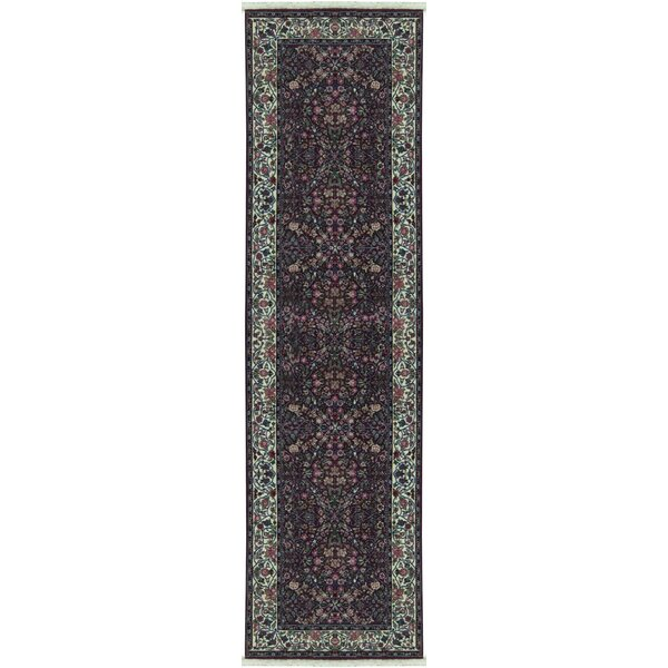 Hand Knotted Wool Plum Rug