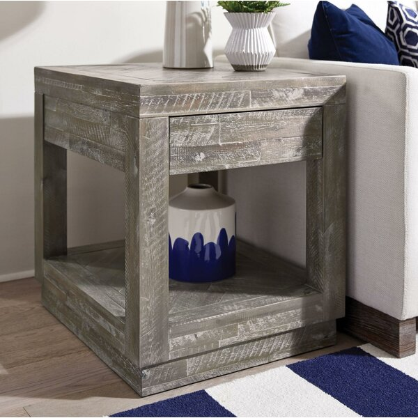 Paez Acacia Wood End Table by Williston Forge