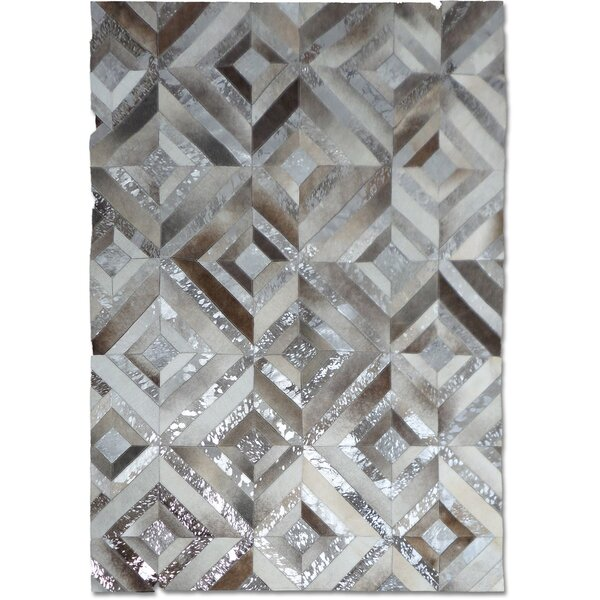 Gray/Silver Area Rug by Modern Rugs