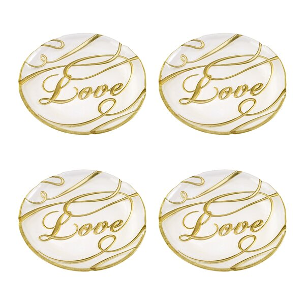 Love Decorative Plate (Set of 4) by The Holiday Aisle