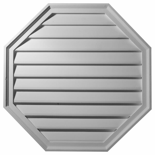 30H x 30W x 2 1/8D Octagon Gable Vent Louver by Ekena Millwork