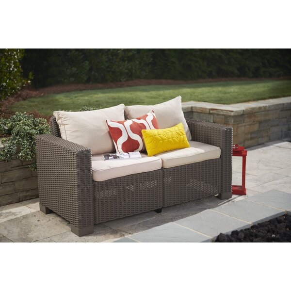 Stallcup Modern Loveseat with Cushions by Brayden Studio