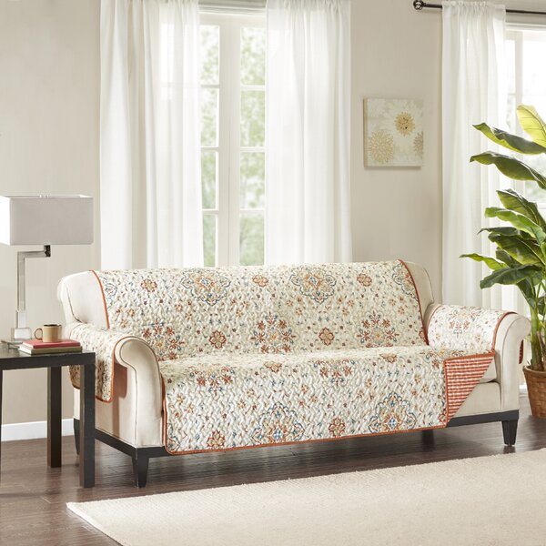 Floral Box Cushion Sofa Slipcover by August Grove