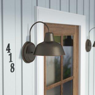 Galvanized outdoor light wayfair save mozeypictures Choice Image