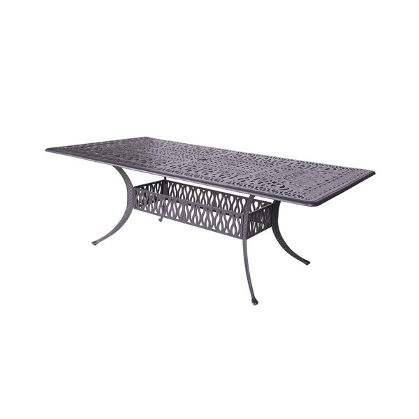 Beaufort Metal Dining Table by World Menagerie