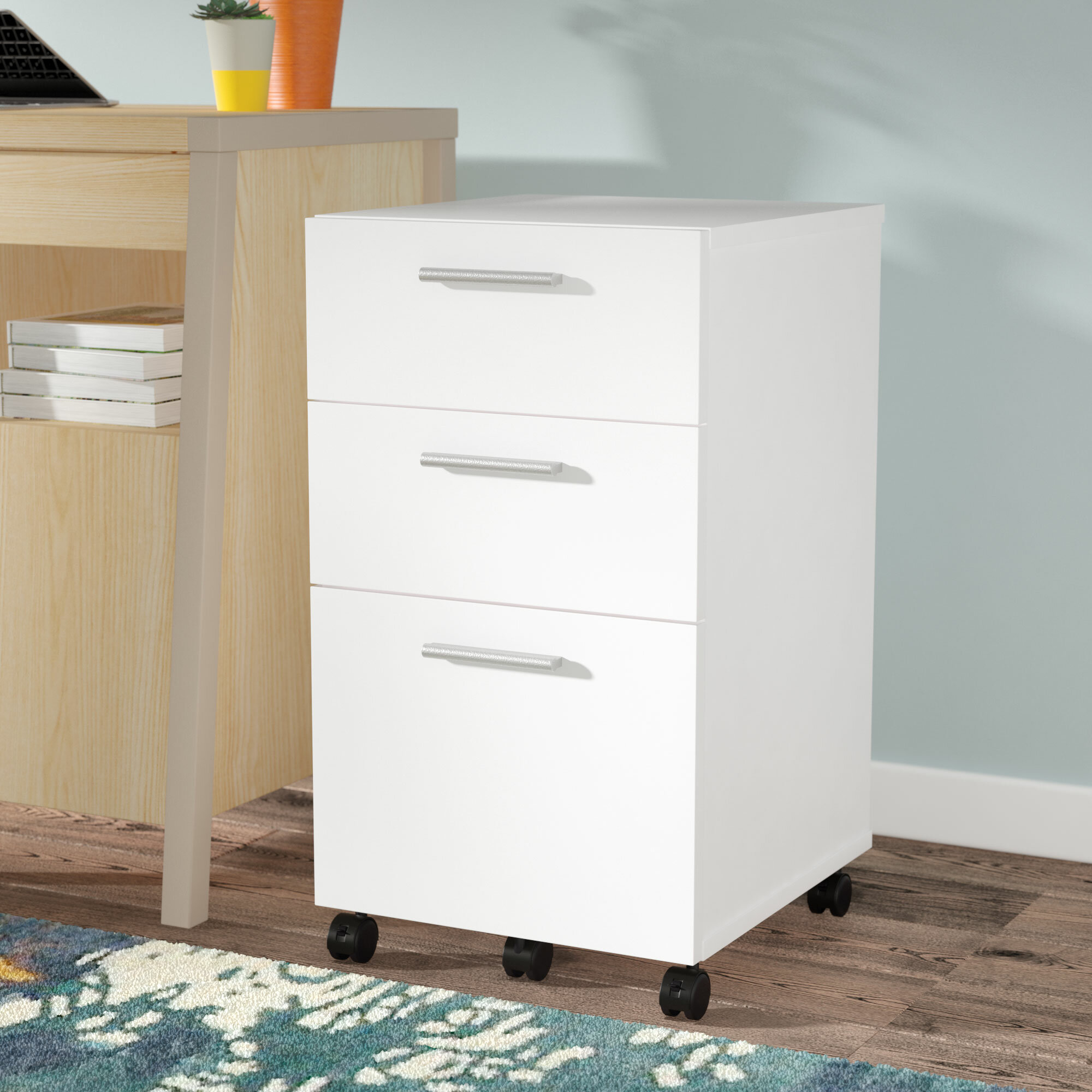 Laude Run Magdalena 3 Drawer Mobile Filing Cabinet Reviews Wayfair