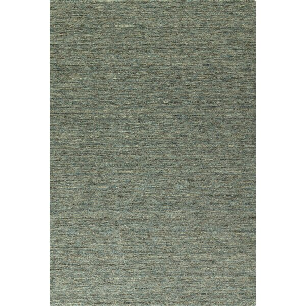 Glenville Hand-Woven Wool Turquoise Area Rug by Latitude Run