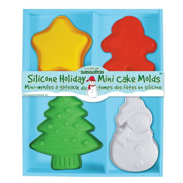 Holiday Mini Cake Molds by Sassafras