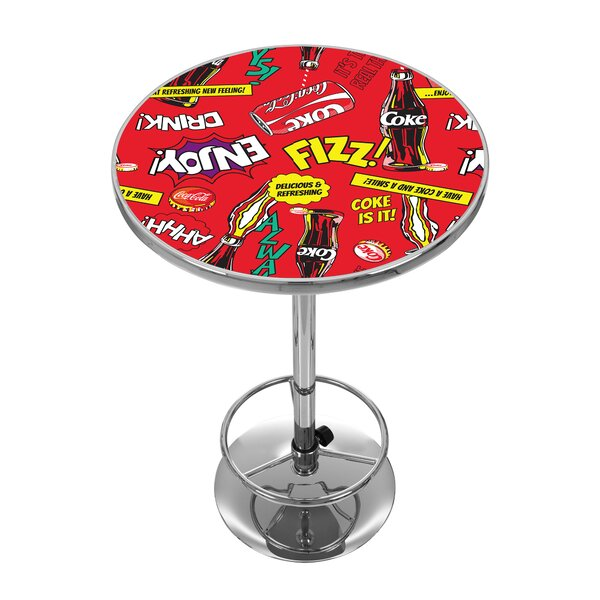 Bargain Coca Cola Pop Art Pub Table By Trademark Global Great Reviews