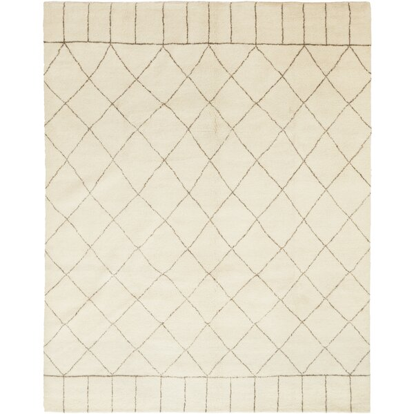 One-of-a-Kind Dillard Hand-Knotted Wool Beige Indoor Area Rug by Foundry Select
