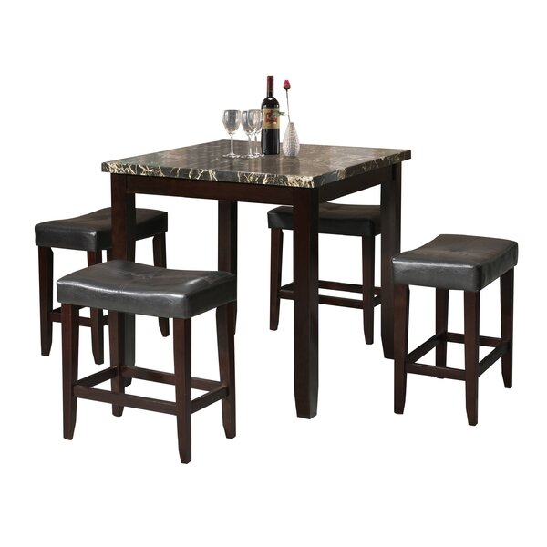 Dehaven 5 Piece Counter Height Dining Set by Latitude Run