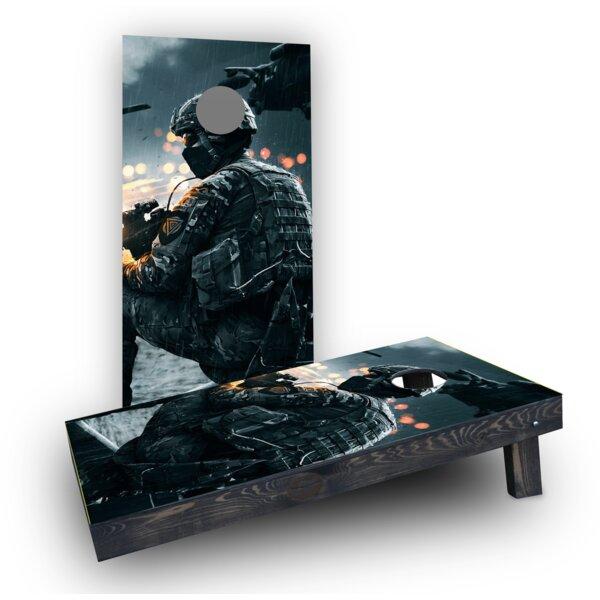 Soldier Cornhole Boards (Set of 2) by Custom Cornhole Boards
