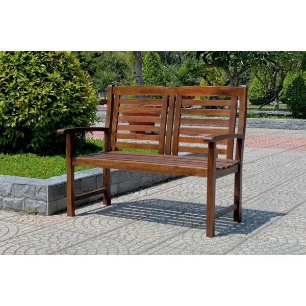 Rothstein Traditional Outdoor Wooden Garden Bench by Beachcrest Home Beachcrest Home