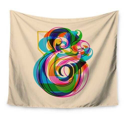 Champersands by Roberlan Wall Tapestry by East Urban Home