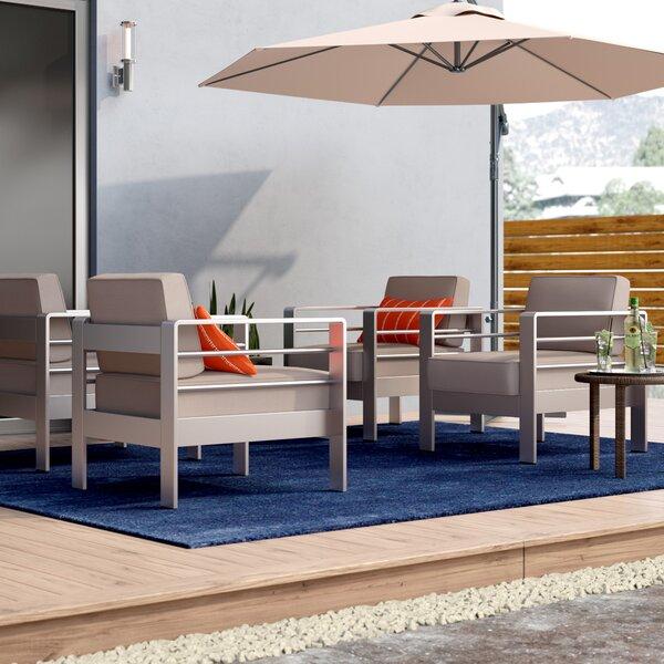 Royalston Outdoor Patio Chair with Sunbrella Cushions (Set of 4) by Brayden Studio