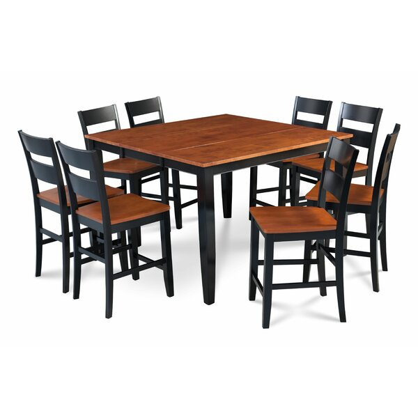 Bennet Solid Wood 9 Piece Solid Wood Dining Set by Alcott Hill