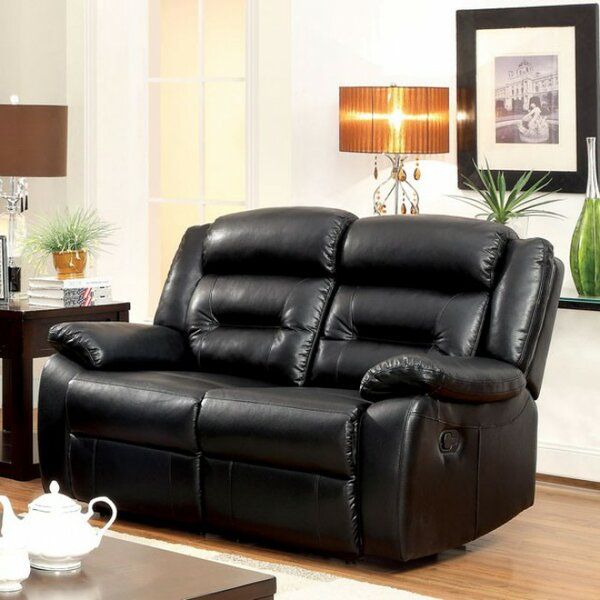 Rittenhouse Motion Leather Reclining Sectional by Latitude Run