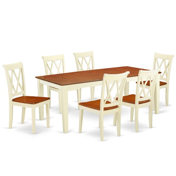 Komar 7 Piece Extendable Solid Wood Dining Set by August Grove