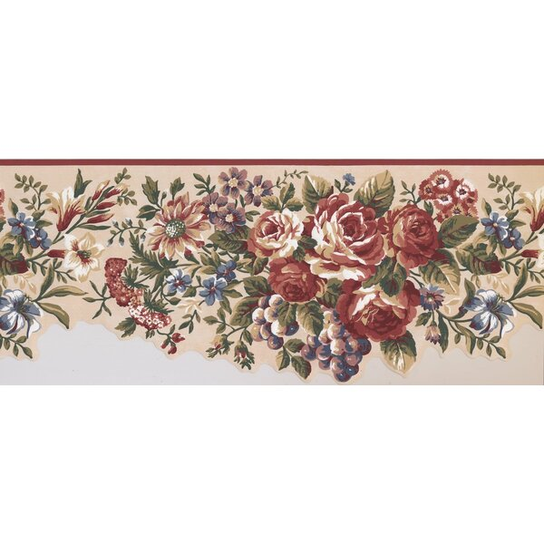 Hoggard Flowers And Grapes 0 83 L X 180 W Wallpaper Border By August Grove.