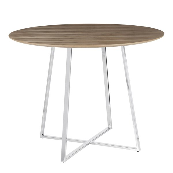 April Contemporary Solid Wood Dining Table by Brayden Studio