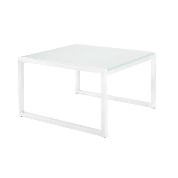 Santistevan Glass Side Table by Orren Ellis