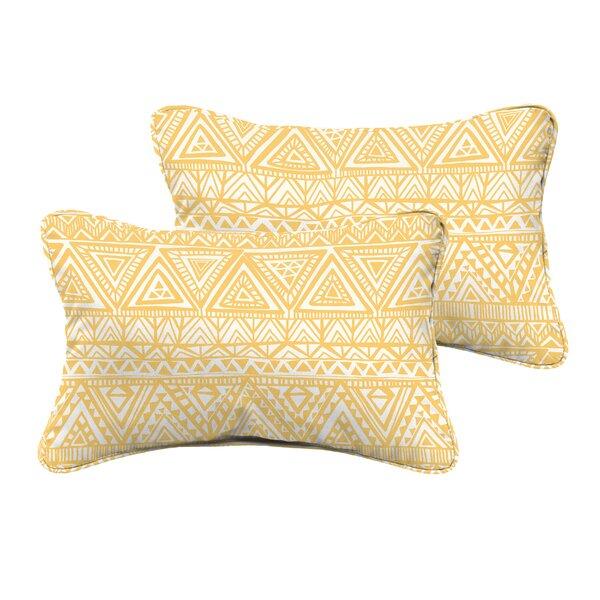 Diorio Indoor/Outdoor Throw Pillow (Set of 2) by Bungalow Rose
