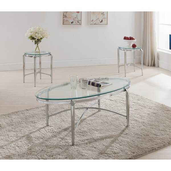 Patroclus 3 Piece Coffee Table Set by Orren Ellis