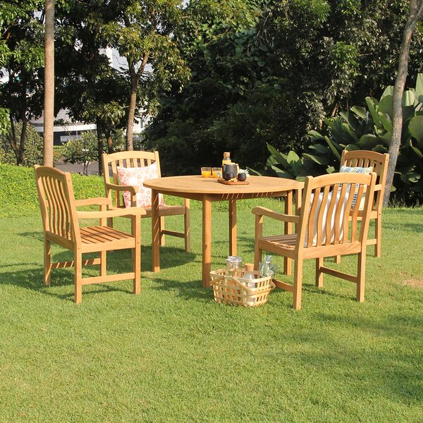 Summerton 5 Piece Teak Dining Set by Birch Lane™