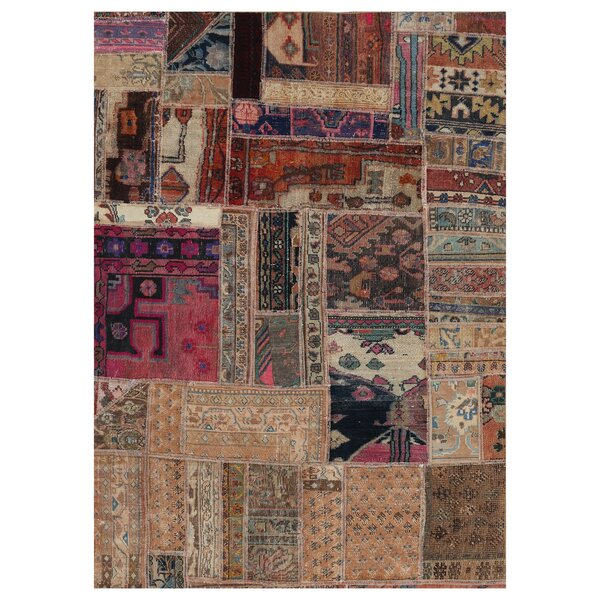 One-of-a-Kind Lodgeste Hand-Knotted Wool Beige Area Rug by Bloomsbury Market