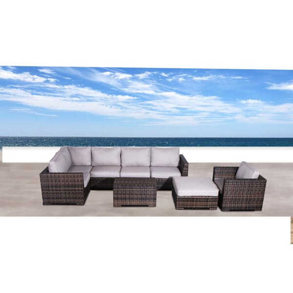 Pierson Resort 4 Piece Sectional Set with Cushions by Brayden Studio