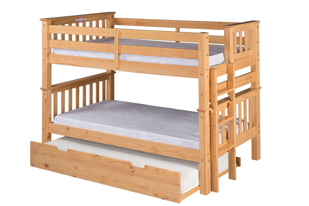 Santa Fe Mission Twin Over Twin Bunk Bed With Trundle