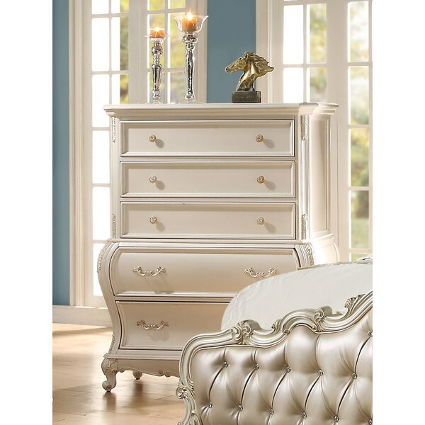 Leawood Traditional 5 Drawer Chest by Rosdorf Park